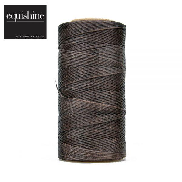 Flat Waxed Plaiting Thread Brown