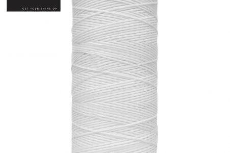 Flat Waxed Plaiting Thread White